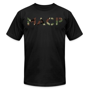 MACP Woodland Camo Fight Shirt Fitted - Men's T-Shirt by American Apparel