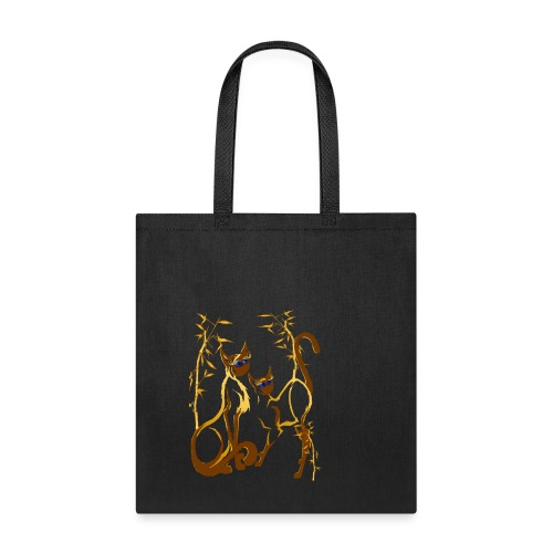 Two gold Siamese Kitties - Tote Bag