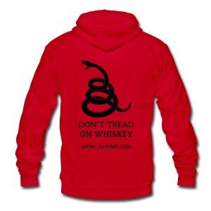 Don't Tread on Whiskey Hoodie - Unisex Fleece Zip Hoodie