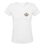 T-Shirts ~ Women's V-Neck T-Shirt ~ Anchor Deep Your Soul - Deckhand - Womens