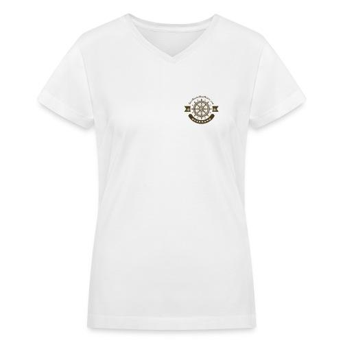 Anchor Deep Your Soul - Deckhand - Womens - Women's V-Neck T-Shirt