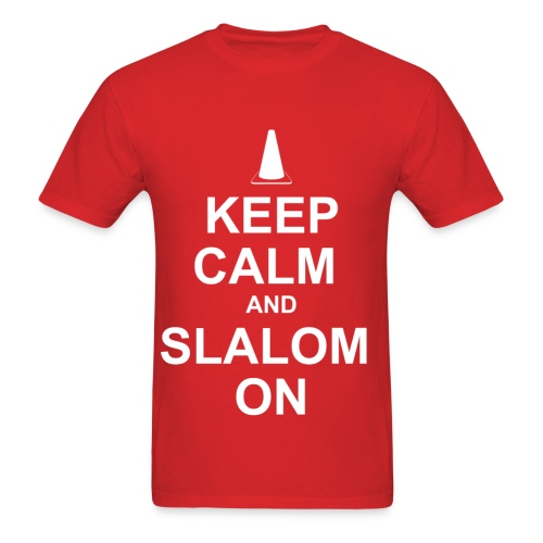 Keep Calm and Slalom on - Men's T-Shirt