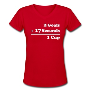 2 Goals - Women's V-Neck T-Shirt