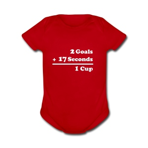 2 Goals - Short Sleeve Baby Bodysuit