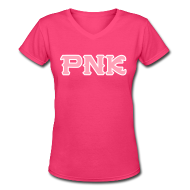 T-Shirts ~ Women's V-Neck T-Shirt ~ Women's PNK V-Neck