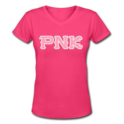 Women's PNK V-Neck - Women's V-Neck T-Shirt