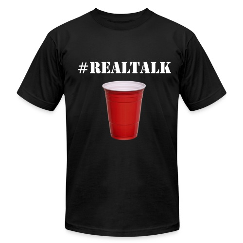 #Realtalk Black T-Shirt - Men's Fine Jersey T-Shirt