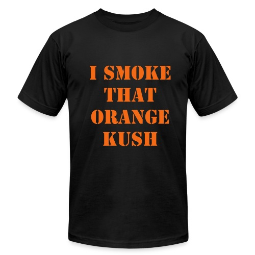 Orange Kush Black T-Shirt - Men's Fine Jersey T-Shirt