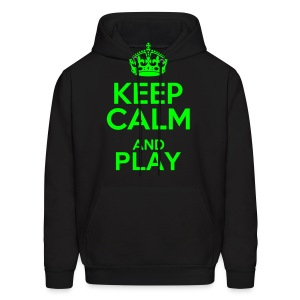 Keep calm and play - Men's Hoodie