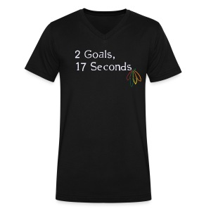 2 Goals Hawks - Men's V-Neck T-Shirt by Canvas