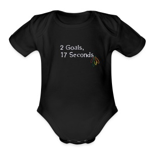 2 Goals Hawks - Short Sleeve Baby Bodysuit