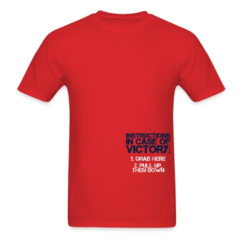 In Case of Victory Red - Men's T-Shirt