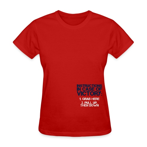 In Case of Victory Red - Women's T-Shirt