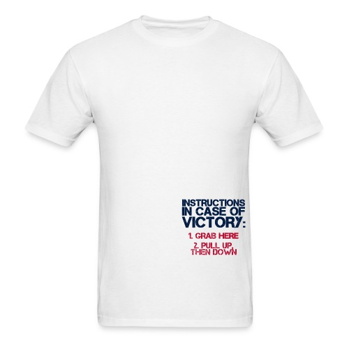 In Case of Victory White - Men's T-Shirt