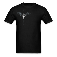 T-Shirts ~ Men's T-Shirt ~ Mens offset Logo T with Wings