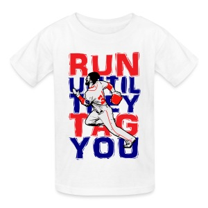 RUN TAG - Kids Blue Letters - Kids' T-Shirt