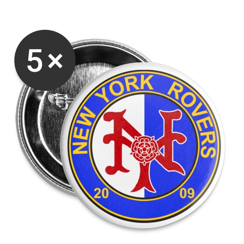 NYR 1 inch pin set of 5 - Small Buttons