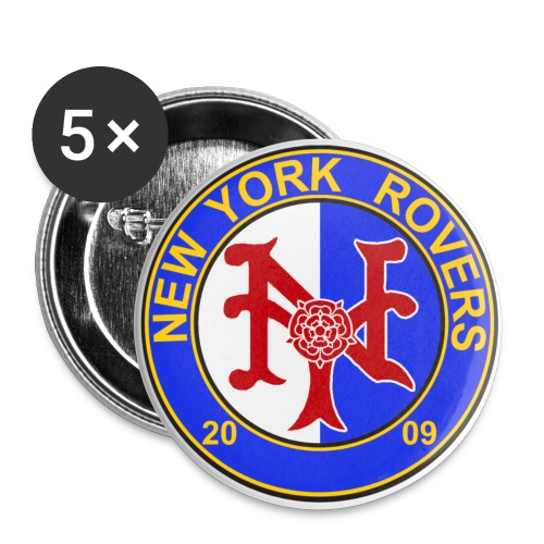 NYR 2.25 inch pin set of 5 - Large Buttons