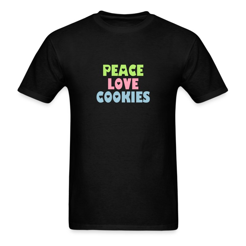 Peace-Love-Cookies Man - Men's T-Shirt