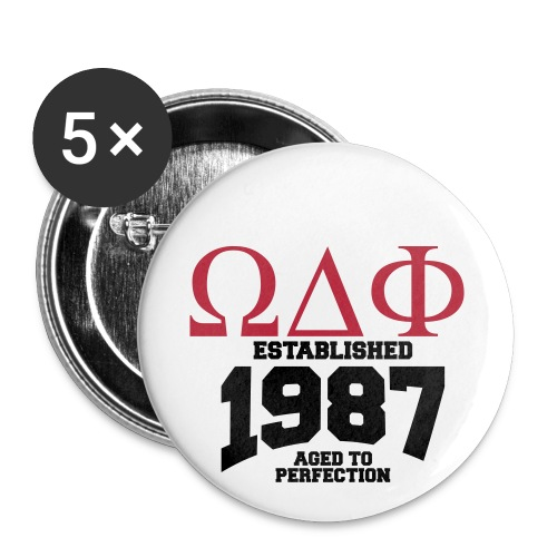 Omega Delta Phi Pins - Buttons large 2.2'' (5-pack)