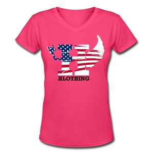 4TH WOMENS VNECK - Women's V-Neck T-Shirt