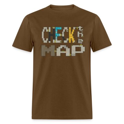 Budget Check the Map - Men's T-Shirt