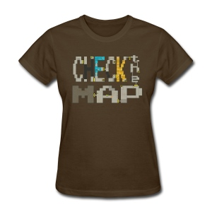 Budget Check the Map (Ladies) - Women's T-Shirt
