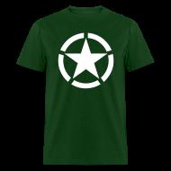 T-Shirts ~ Men's T-Shirt ~ Broken Ring White Star National Symbol
