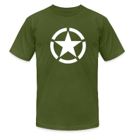 T-Shirts ~ Men's T-Shirt by American Apparel ~ Broken Ring White Star National Symbol