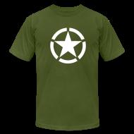 T-Shirts ~ Men's T-Shirt by American Apparel ~ Broken Ring White Star National Symbol