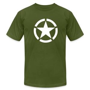 Broken Ring White Star National Symbol - Men's Fine Jersey T-Shirt