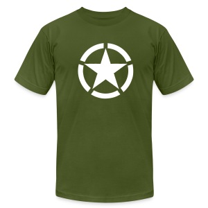 Broken Ring White Star National Symbol - Men's T-Shirt by American Apparel