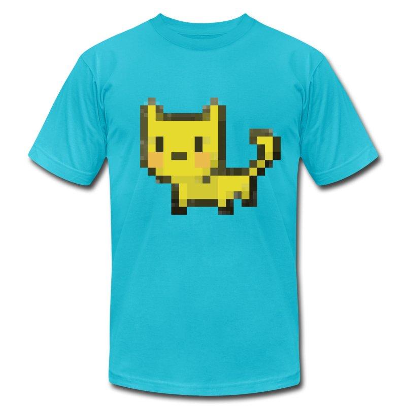 Kubbicat ♂ - Men's Fine Jersey T-Shirt