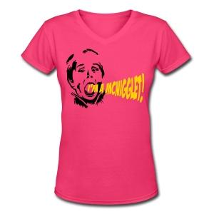 Tell 'Em Tee - Women's V-Neck T-Shirt