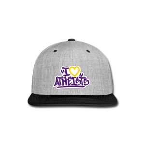 I Love Atheists by Tai's Tees - Snap-back Baseball Cap