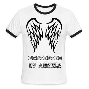 protected by angels - Men's Ringer T-Shirt