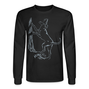 Men's Hunting Dog Shirt Hound Dog Art Shirt Long Sleeve - Men's Long Sleeve T-Shirt