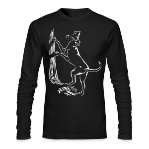 Men's Hunting Dog Shirt Hound Dog Art Shirt Long Sleeve - Men's Long Sleeve T-Shirt by Next Level
