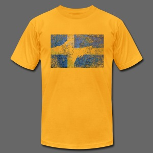 Swedish UP Flag - Men's T-Shirt by American Apparel