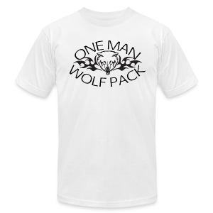 One Man Wolf Pack American Apparel T-Shirt - Men's T-Shirt by American Apparel