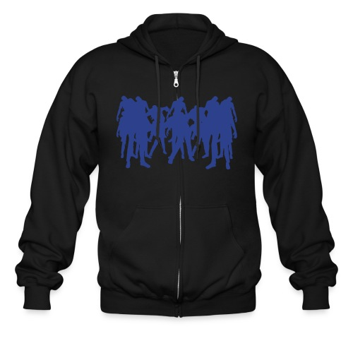 black hoodie zombie apocalipse - Men's Zip Hoodie