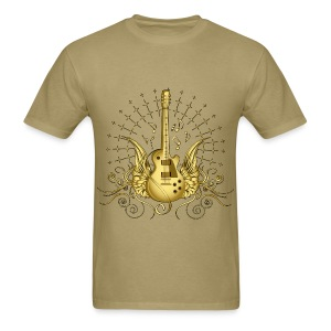 Gold Winged Guitar Standard weight - Men's T-Shirt