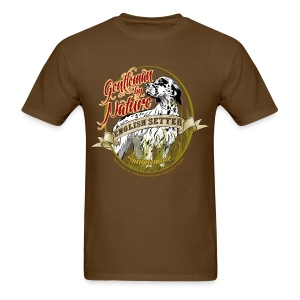 setter_gentleman_by_nature T-Shirts - Men's T-Shirt