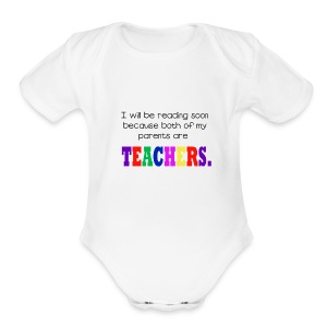 Baby Read Both Parents - Short Sleeve Baby Bodysuit