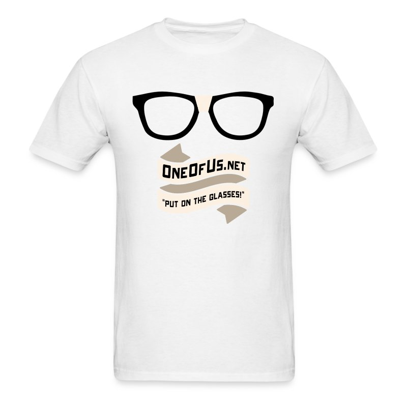 One Of Us Put On The Glasses - Men's T-Shirt