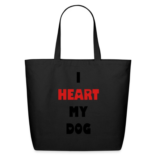 I Heart My Dog Tote - Eco-Friendly Cotton Tote