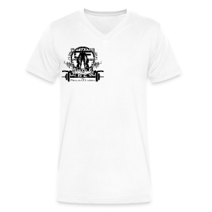 Swole Crew (SMALL) Vneck - Men's V-Neck T-Shirt by Canvas