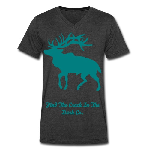 Elk Logo - Men's V-Neck T-Shirt by Canvas