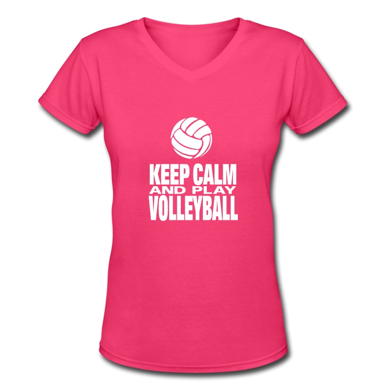 Keep Calm and Play Volleyball  - Women's V-Neck T-Shirt