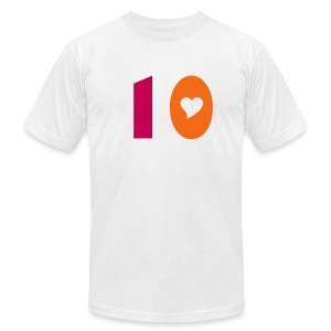 10 Heart - Men's T-Shirt by American Apparel